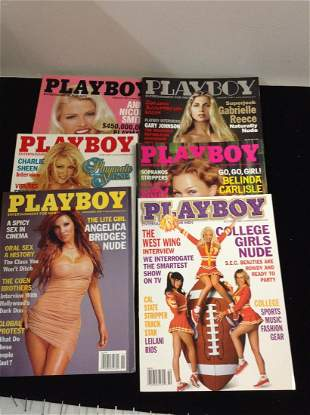 Lot of 2001 Playboy Magazines