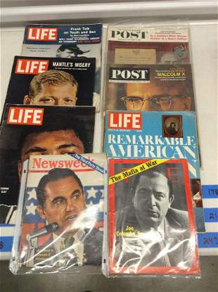 Lot of Various Life, Time, and Other Magazines