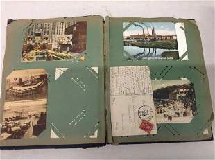 Early Scrapbook with Postcards and more