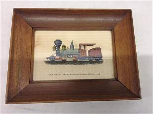 1883 Ten Wheel Double-Ender Locomotive Framed Photo