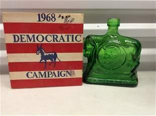 1968 Democratic Campaign Bottle