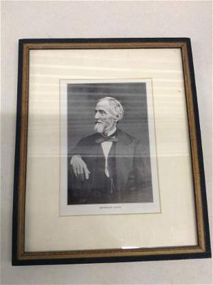 Jefferson Davis Framed Photo