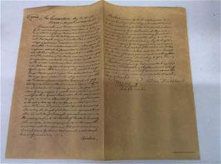 Replica of the Notes of the Convention of May 15th,