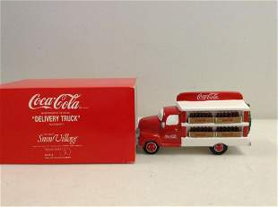department 56 snow village Coca-Cola Delivery Truck