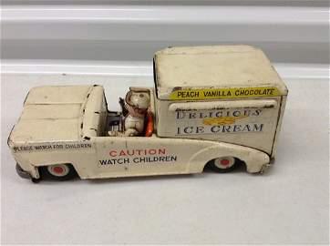 Vintage Friction Ice Cream Truck L