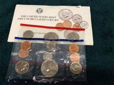 The United States Mint 1989 Uncirculated Coin Set with