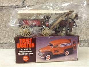 Trustworthy Ford Collector's Bank and ERTL Horse and