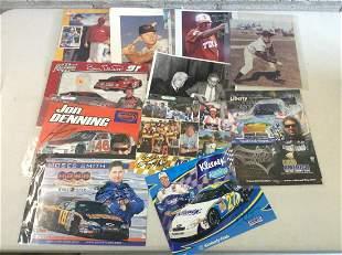 Large lot of signed baseball & Nascar photos