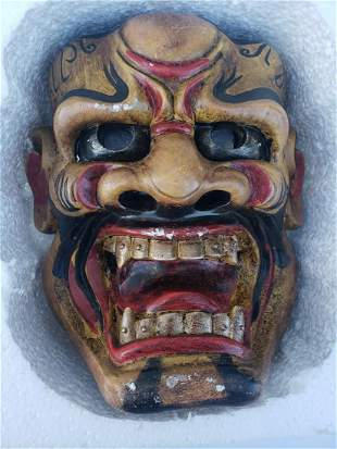 Unusual and unique wooden mask