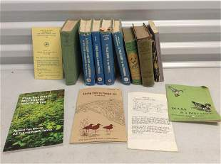 Lot of vintage bird and other books and more