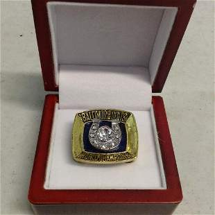 Baltimore Colts World Champions Ring