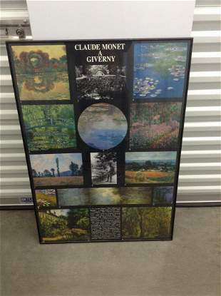 "Claude Monet Framed poster 39""x 28"""