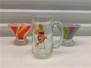 Vintage  Pin-up Girl Mug and other glasses