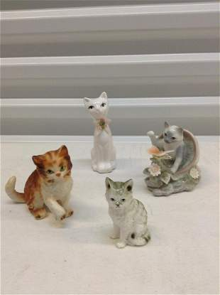 Lot of vintage Cat figurines - One numbered