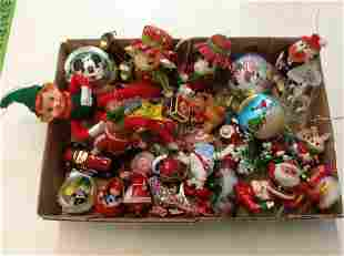 Box of Vintage Christmas - paper mache  and more