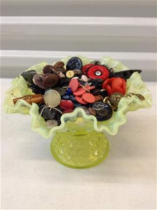 Vintage bowl full of Old Buttons Probably some bakelite