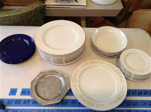 Lot of Crown Victoria Dinner Plates and More