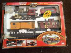 The Great American Express Train and Tracks in Box