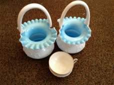 Milk Glass Baskets