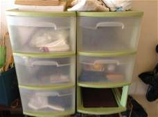 Plastic Storage Containers with Contents