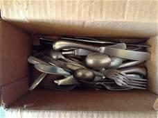 Box Full of Vintage Silverware
