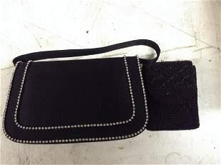 Evening Handbag and Beaded Cigarette Box