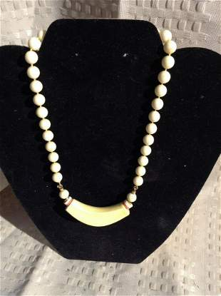 Beige Beaded Necklace