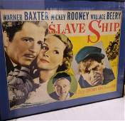 Vintage framed Warner Baxter, Mickey Rooney and Wallace