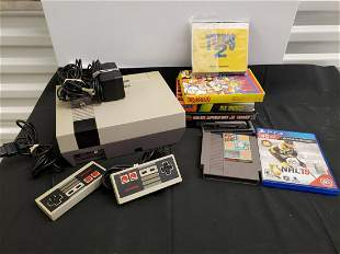 Original Nintendo Entertainment system with games