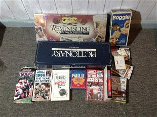 Lot of Vintage Board Games, Playing Cards and more