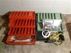 Two Tackle boxes with fishing tackle