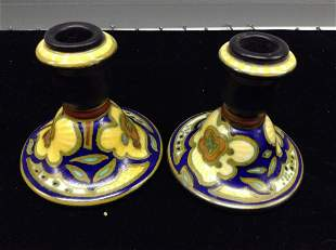 Aurora Glazuid Candlestick Holders