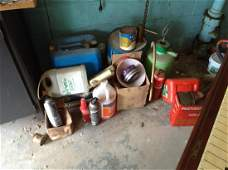 Kerosene cans and other items