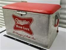 1950s Metal Miller Cooler with Vinyl Seat