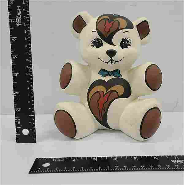 Signed Greyfeather Native American Ceramic Bear