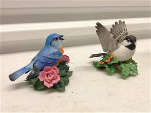 Two Lenox Bird Statues