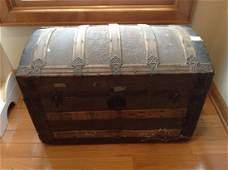 """vintage steamer trunk 30""""x17""""x19"""""""