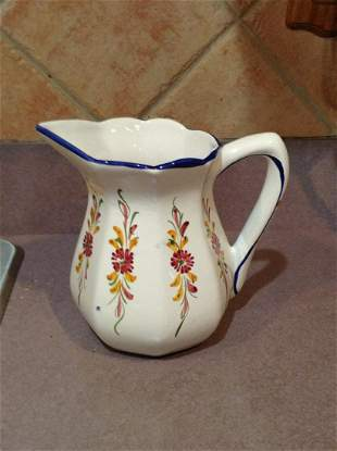 Hand Painted in Portugal Pitcher