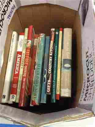box of vintage books