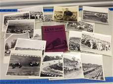 Large lot of 1940's black and white race car photos and
