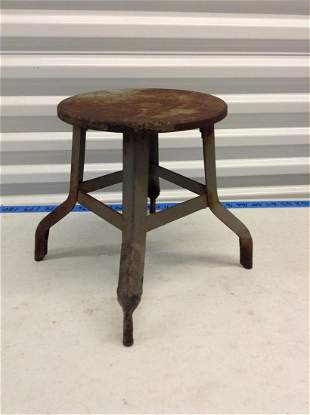 "early metal stool 12"" high"