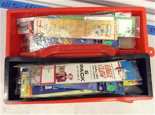 Lot of Various Fishing Hooks in Box