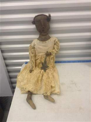 african doll signed by liz strause 33 inch long