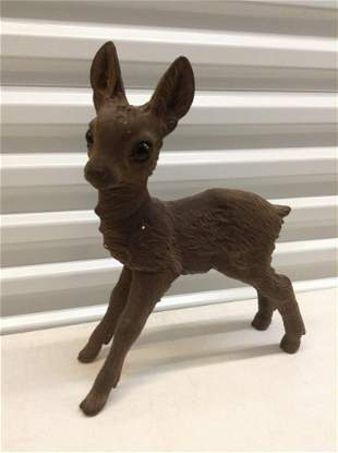 """Early Zeho Germany Fawn Statue  16"""" tall"""