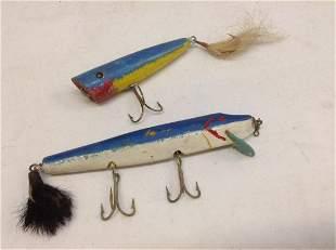 "Early Wood  Fishing Lures longest 7"""