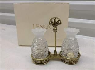 Lenox Lead Crystal  Pineapple S&P Set  NIB
