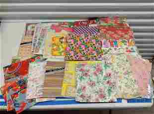 Large lot of Vintage Wrapping paper - Many still sealed