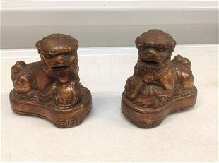 """Pair of Foo Dog  Statues 3.5"""" tall"""