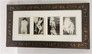 Risque early framed photo - The frame is extremely