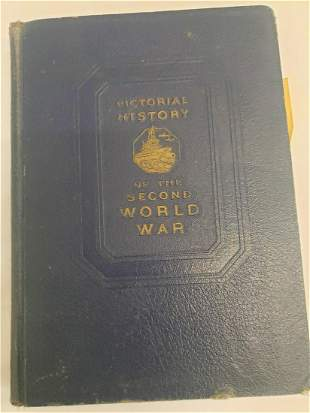 1944 Pictorial History of the Second World War book